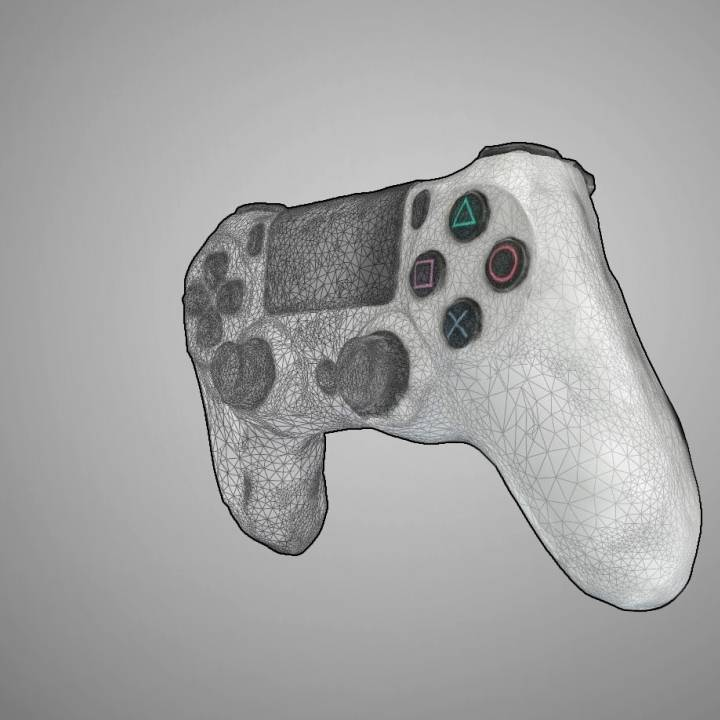 3D Printable PS4 Controller Scan (V2) Autodesk Remake By