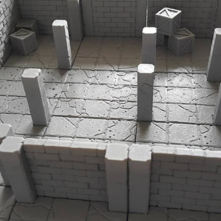image relating to 3d Printable Dungeon Tiles named 3D Printable Tilescape™ DUNGEONS Modular Terrain Pattern Pack