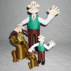Picture of print of Wallace and Gromit