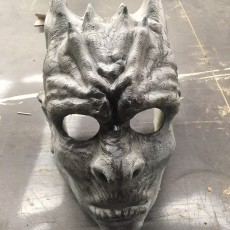 Picture of print of White Walker Mask & Mini Sculpture