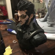 Picture of print of Deus Ex Mankind Divided Jensen Bust