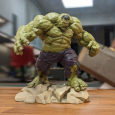 Picture of print of Low Poly Hulk 这个打印已上传 Thomas Smestad