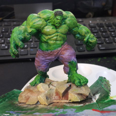 Picture of print of Low Poly Hulk 这个打印已上传 David Gidony