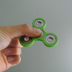 Picture of print of Knurled Tri-Spinner EDC Fidget Widget / Triple Bearing Spinner