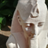 """""""The Younger Memnon"""", Colossal bust of Ramesses II print image"""