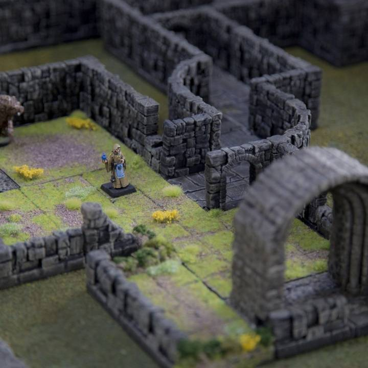 picture relating to 3d Printable Dungeon Tiles known as 3D Printable Rampage Process Tile Pack as a result of Printable Landscapes