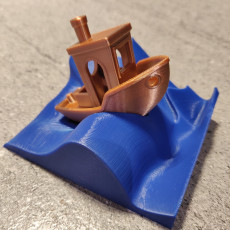 Picture of print of Wave stand for the #3DBenchy - The jolly 3D printing torture-test