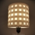 3D-printable lampshade for standard light fixture (concentric perforated shading walls) image