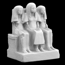Funerary Sculpture of Amenemheb, Mayor of Thebes, with his Wife and Mother