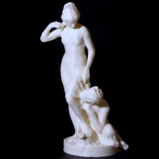 Faun removing a Nymph's Shoes