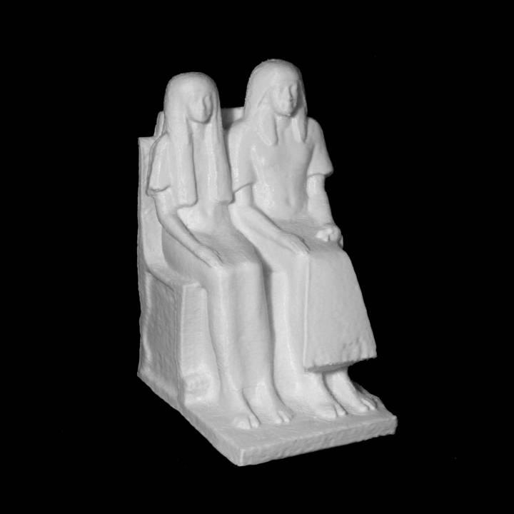 Seated Statue of Maya and Meryt
