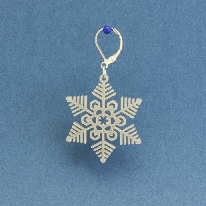 Earrings Snowflake 3