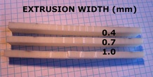 Extrusion Width Testing of 3D Printed Specimens