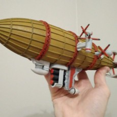 Picture of print of Kirov airship from Red Alert