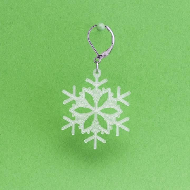 Earrings Snowflake 4