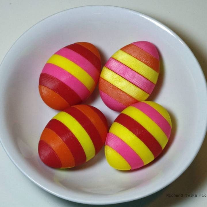 Easter Egg with Seven Stripes