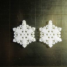 Picture of print of Earrings Snowflake 5