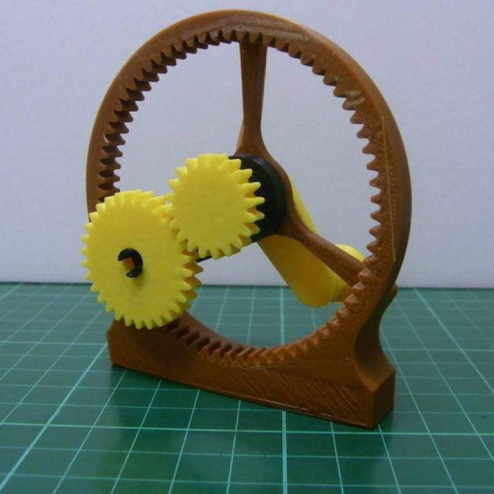 3D Printable Planetary Gear Module Part 1 by Anthony Lu
