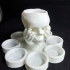 Skull in hand candle holder image