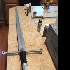 Picture of print of Andúril (Aragorn's sword) - Lord of The Rings