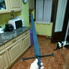 Picture of print of Andúril (Aragorn's sword) - Lord of The Rings 这个打印已上传 Asier Aguirre
