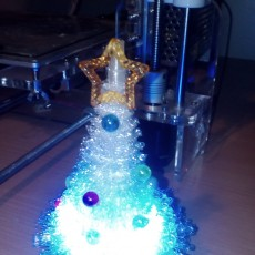 Picture of print of 100% 3D Printed Furry Christmas Tree!