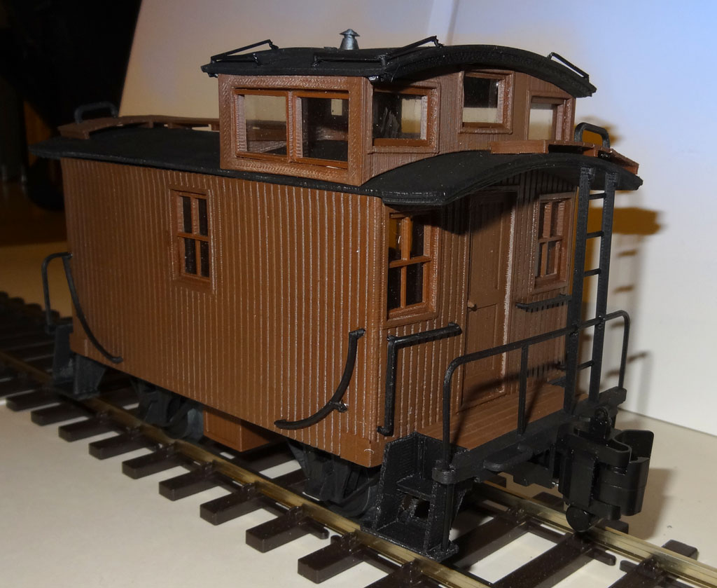 3D Printable US Bobber Caboose Scale 1/32 - OpenRailway by Raby