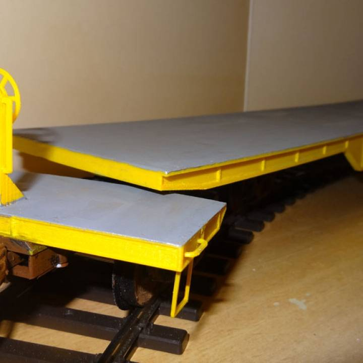 US 8-axle Heavy Duty Flat Car - 1/32 - Gauge I -OpenRailway