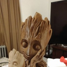 "Picture of print of Baby Groot flower pot: ""Gardens"" of the Galaxy 2 This print has been uploaded by MICHAEL S LOVELL"