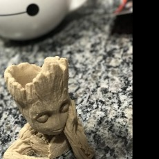 "Picture of print of Baby Groot flower pot: ""Gardens"" of the Galaxy 2 This print has been uploaded by Luca Persia"