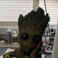 "Picture of print of Baby Groot flower pot: ""Gardens"" of the Galaxy 2 This print has been uploaded by rodney giles"
