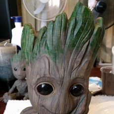 "Picture of print of Baby Groot flower pot: ""Gardens"" of the Galaxy 2 This print has been uploaded by Kay Everitt"
