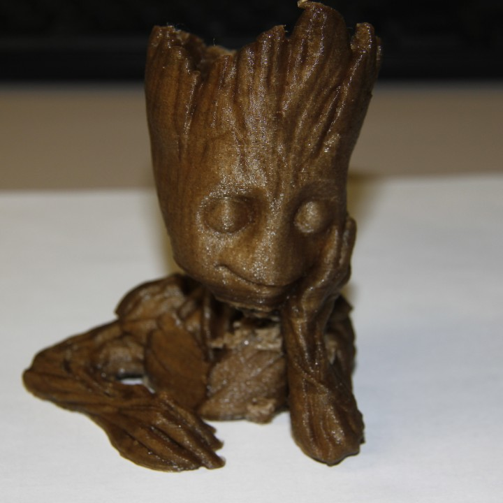 "Picture of print of Baby Groot flower pot: ""Gardens"" of the Galaxy 2 This print has been uploaded by Daniel Fujinaga"