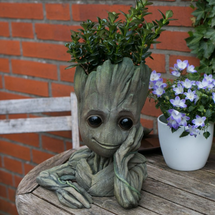 Baby Groot flower pot:  Gardens  of the Galaxy 2