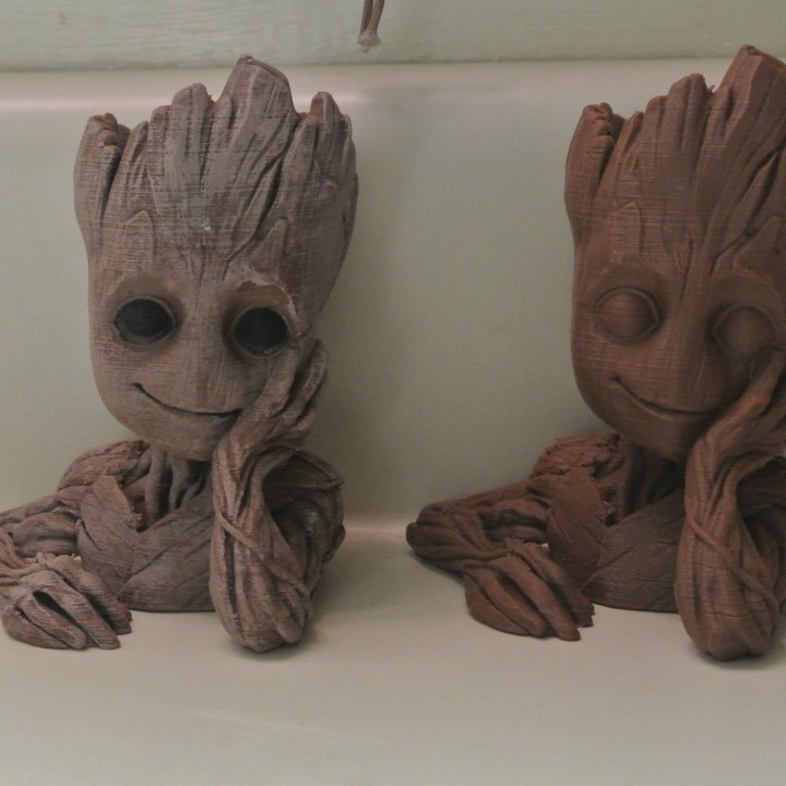 "Picture of print of Baby Groot flower pot: ""Gardens"" of the Galaxy 2 This print has been uploaded by Graham Crate"