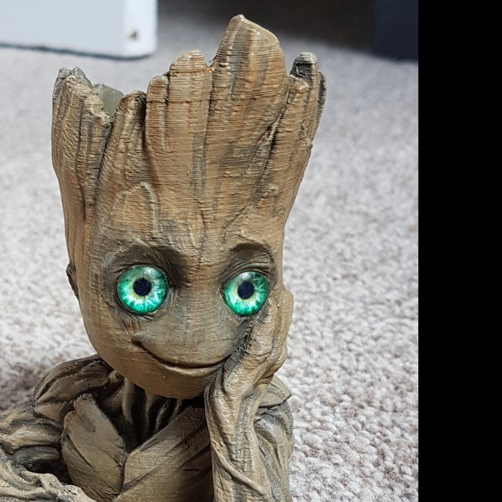 "Picture of print of Baby Groot flower pot: ""Gardens"" of the Galaxy 2 This print has been uploaded by Kevin Paterson"
