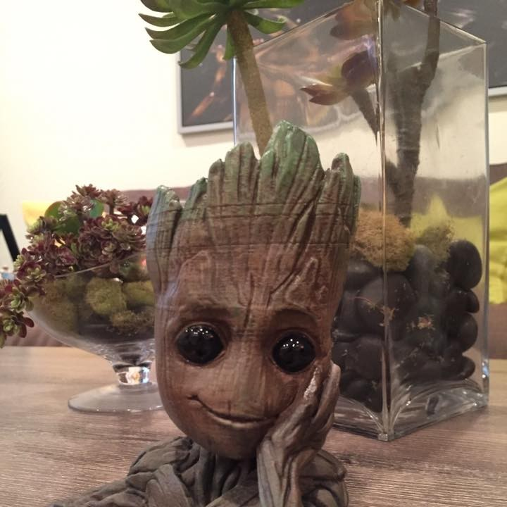 "Picture of print of Baby Groot flower pot: ""Gardens"" of the Galaxy 2 This print has been uploaded by Edward"