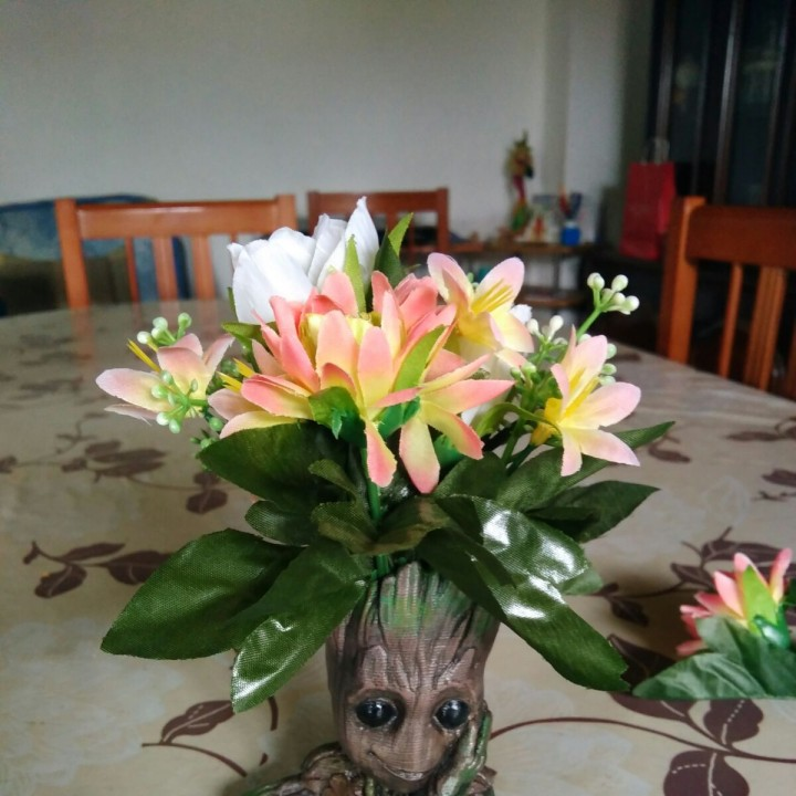 "Picture of print of Baby Groot flower pot: ""Gardens"" of the Galaxy 2 This print has been uploaded by Emilio Sanjuán Pérez"