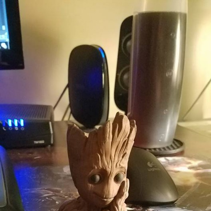 "Picture of print of Baby Groot flower pot: ""Gardens"" of the Galaxy 2 This print has been uploaded by Adam"