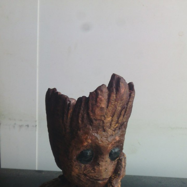 "Picture of print of Baby Groot flower pot: ""Gardens"" of the Galaxy 2 This print has been uploaded by Vitaliy"