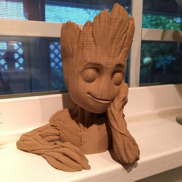 "Picture of print of Baby Groot flower pot: ""Gardens"" of the Galaxy 2 This print has been uploaded by Josh Hunter"