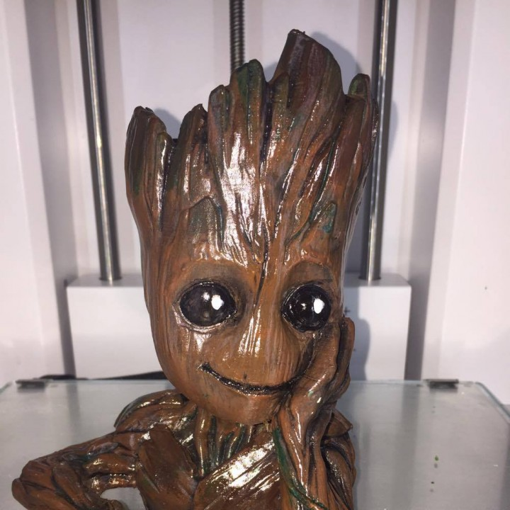 "Picture of print of Baby Groot flower pot: ""Gardens"" of the Galaxy 2 This print has been uploaded by Mike McNeill"