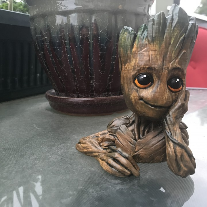 "Picture of print of Baby Groot flower pot: ""Gardens"" of the Galaxy 2 This print has been uploaded by Amanda Hurt"