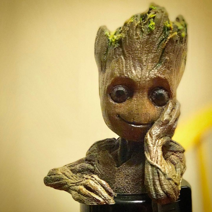 "Picture of print of Baby Groot flower pot: ""Gardens"" of the Galaxy 2 This print has been uploaded by Stephen Herron"