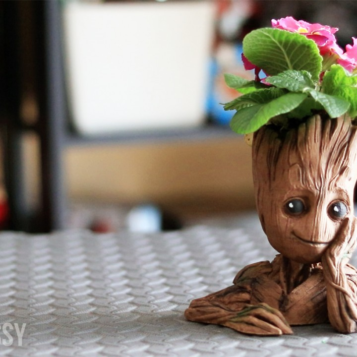 "Picture of print of Baby Groot flower pot: ""Gardens"" of the Galaxy 2 This print has been uploaded by Uncle Jessy"