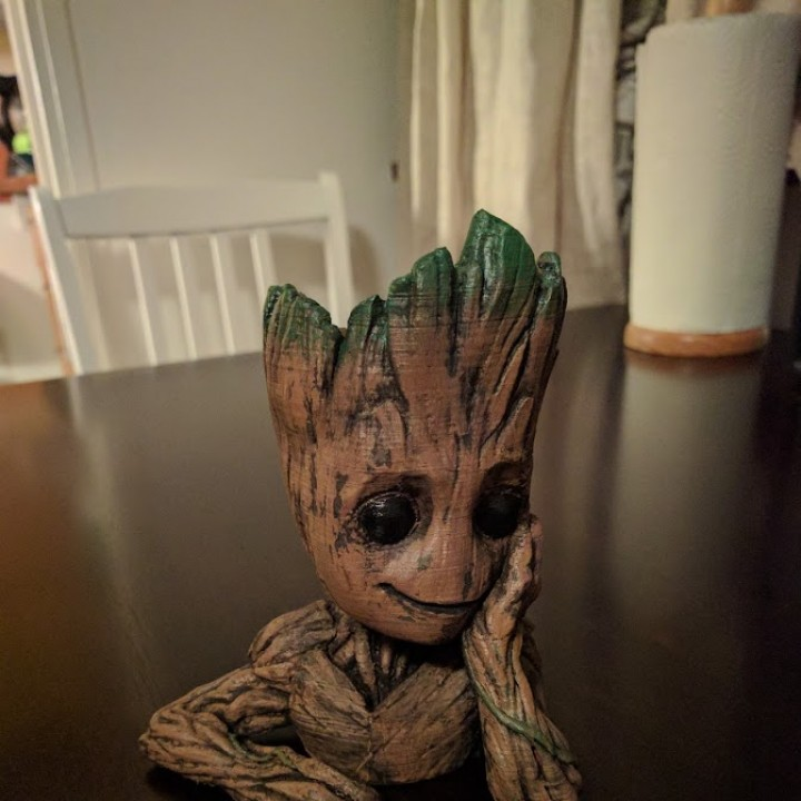 "Picture of print of Baby Groot flower pot: ""Gardens"" of the Galaxy 2 This print has been uploaded by Jukka Seppänen"