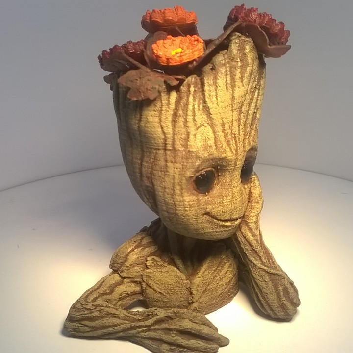 "Picture of print of Baby Groot flower pot: ""Gardens"" of the Galaxy 2 This print has been uploaded by Yvan"