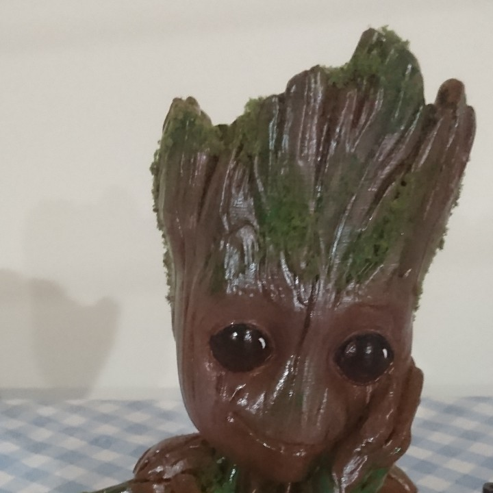 "Picture of print of Baby Groot flower pot: ""Gardens"" of the Galaxy 2 This print has been uploaded by Mitch Mitch"