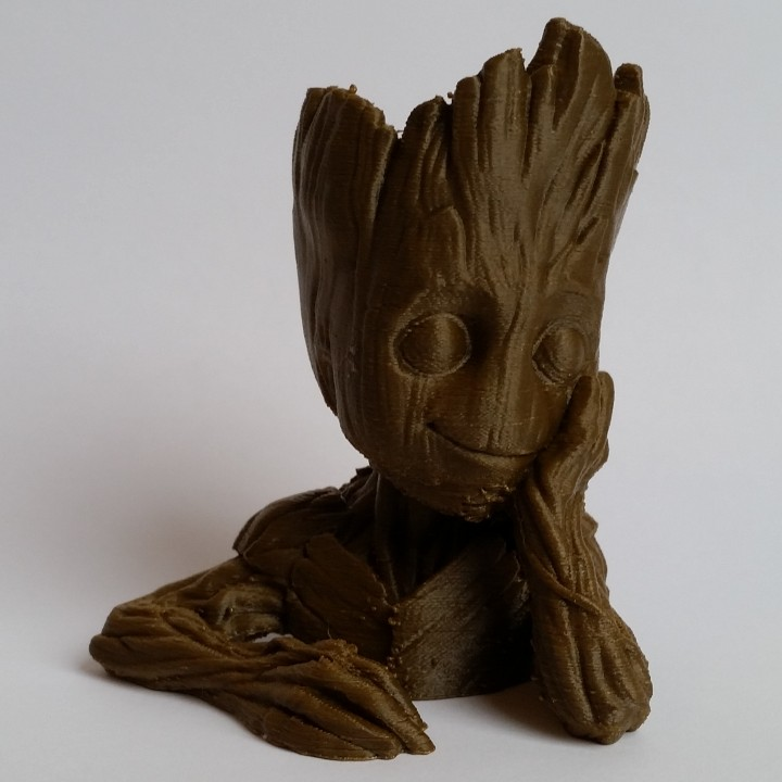 "Picture of print of Baby Groot flower pot: ""Gardens"" of the Galaxy 2 This print has been uploaded by 3DWithUs"
