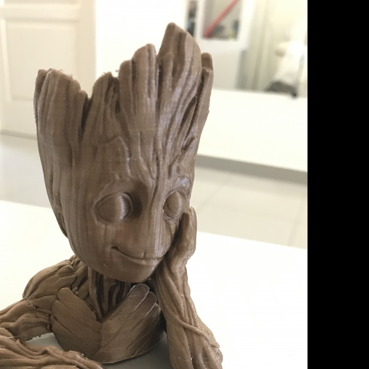 "Picture of print of Baby Groot flower pot: ""Gardens"" of the Galaxy 2 This print has been uploaded by eranda desilva"